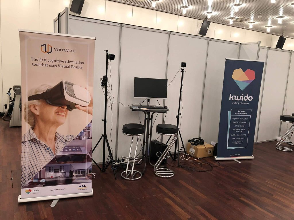 VirtuAAL stand in AAL Forum 2019
